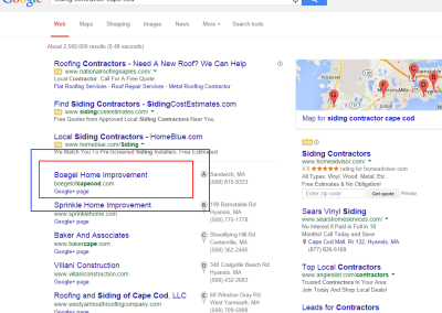 boston area seo results