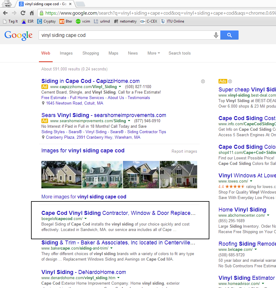 home contractor seo results