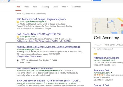 naples fl seo results