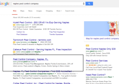 naples seo services search engine results number 1