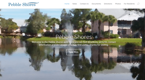 Pebble Shores Website Design
