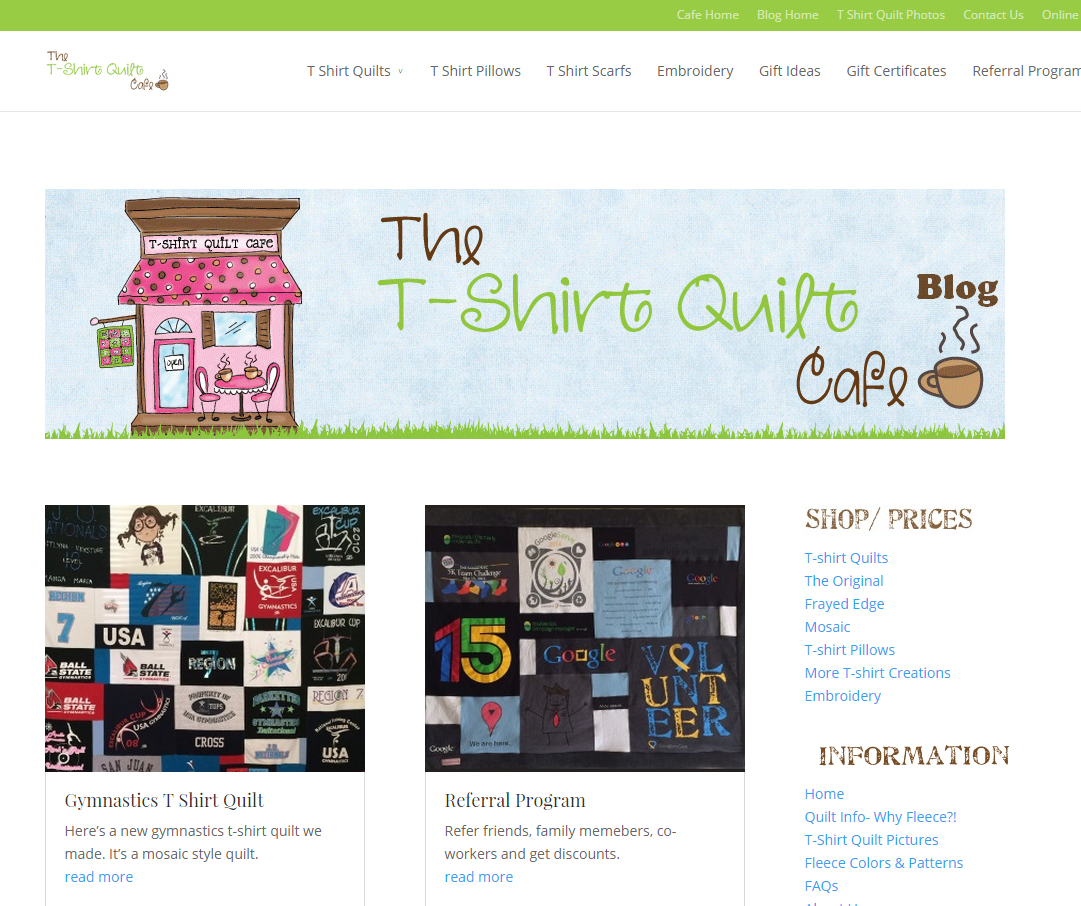 SEO for T Shirt Quilt Cafe