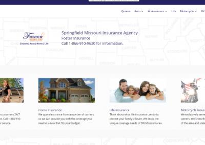 WordPress Design, SEO, Insurance