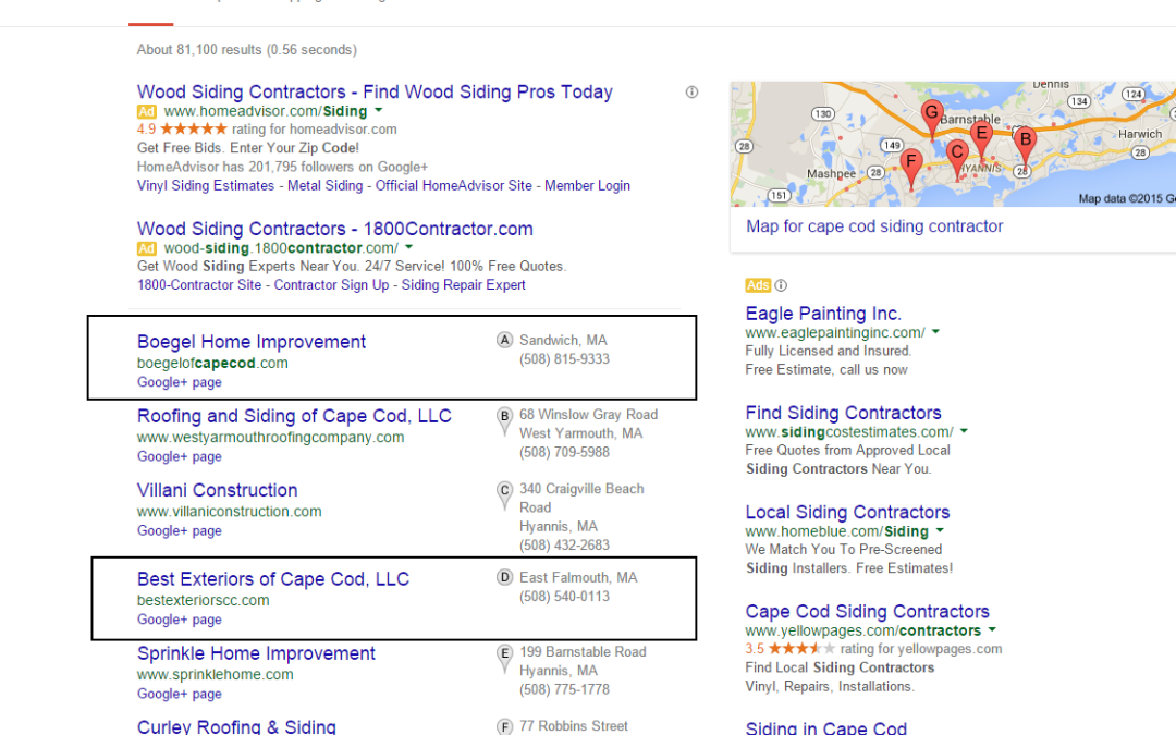 Local SEO Results