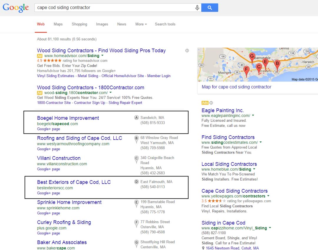 home contractor seo services results