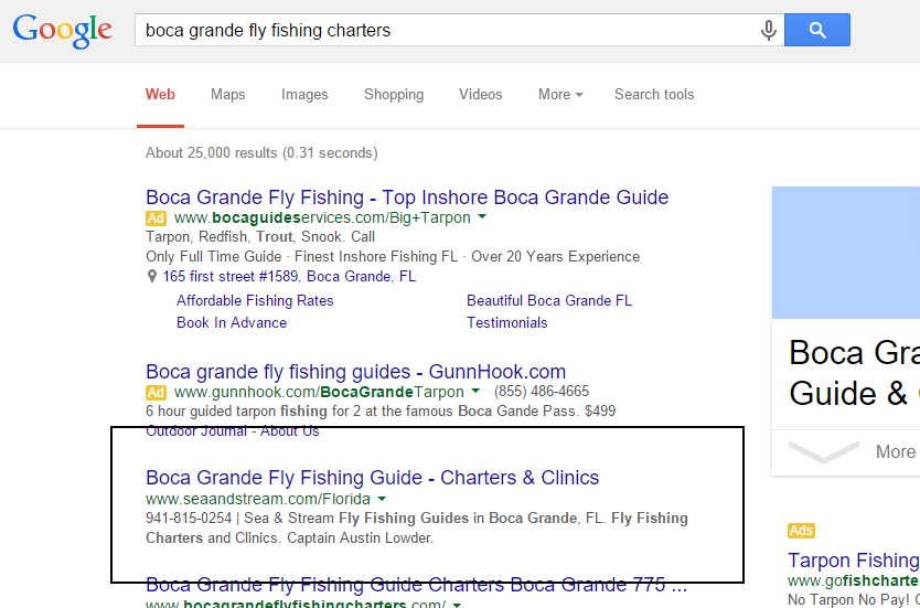 SouthWest Florida SEO Results