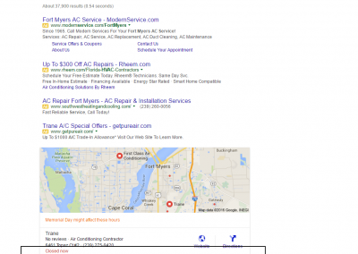 Fort Myers SEO Results