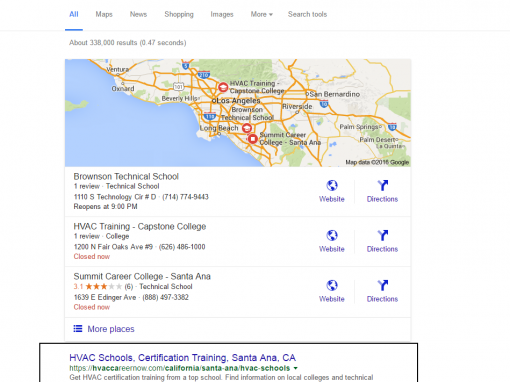 Local SEO Results, Lead Gen