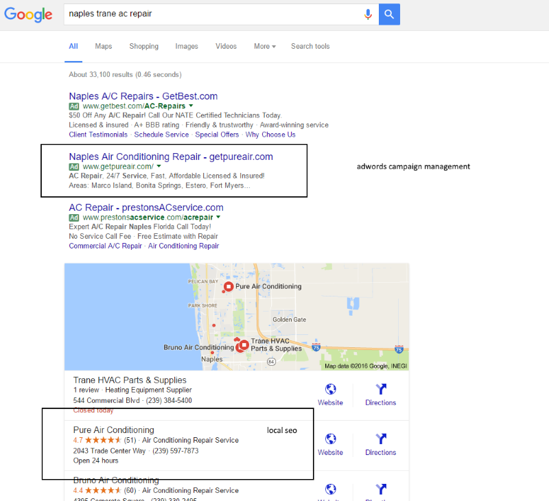 seo naples local services