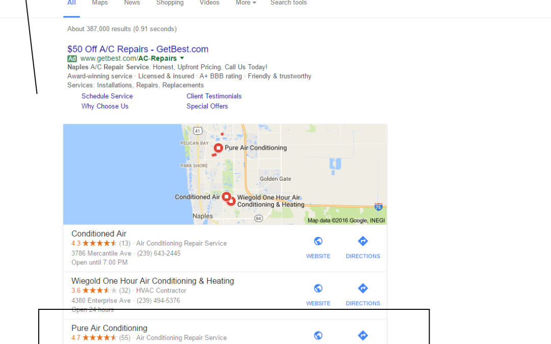 Naples SEO, Services Result