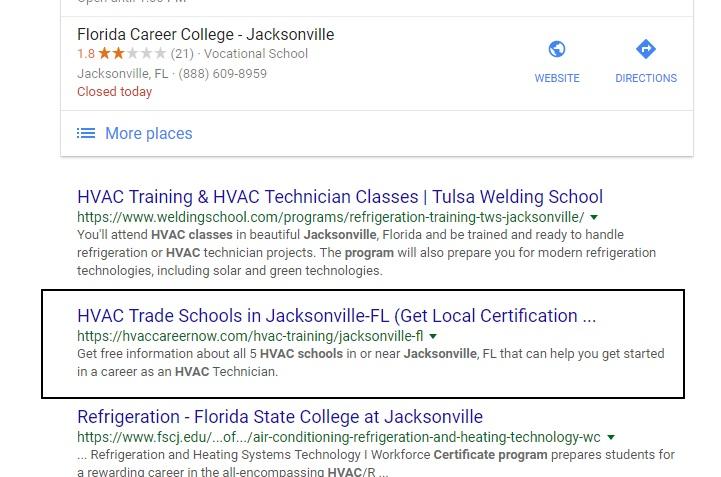 Local SEO Results, Lead Gen Jacksonville