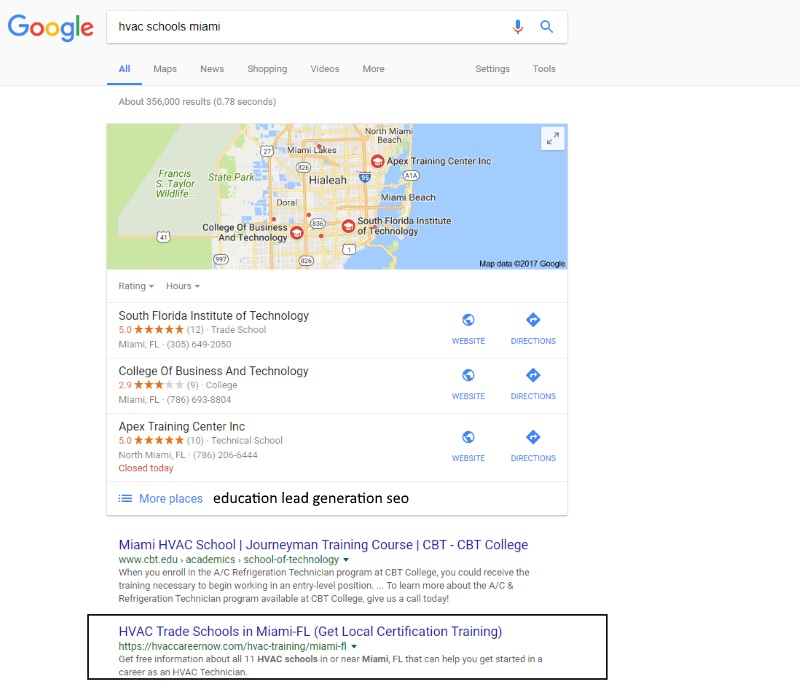 miami seo example
