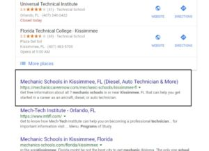 kissimmee seo results