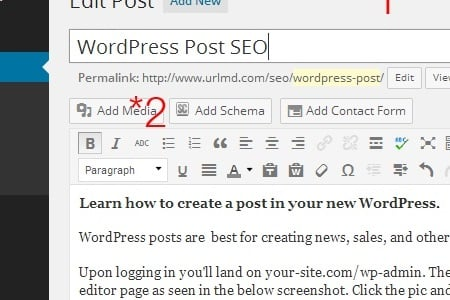 image seo wordpress post
