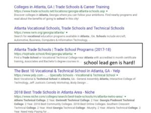 atlanta seo results