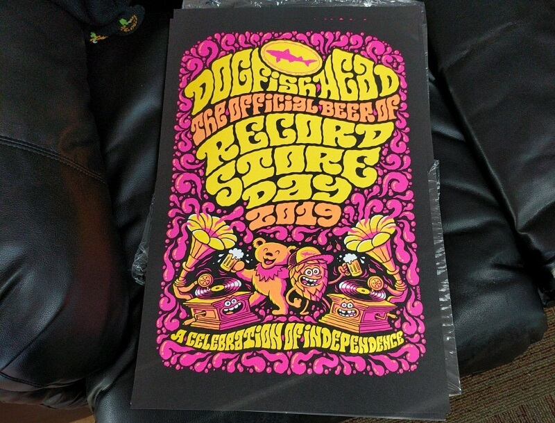 record store day rsd 2019 poster dogfish head beer